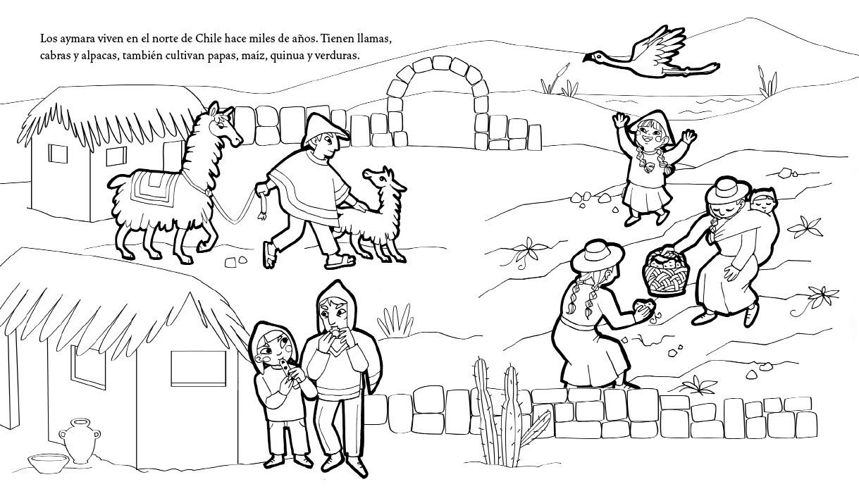 Láminas para colorear del pueblo Aymara. | Periódico Indígena Ajayu